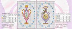 0 point de croix bouteilles parfum rose et violet - cross stitch pink and purple bottles of perfume