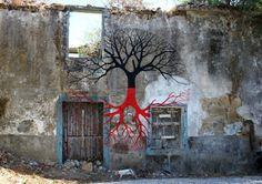 Street Art Murals By Spanish Painter Pablo S. Herrero In Spain. 1