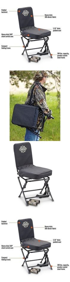 Seats and Chairs 52507: Portable Swivel Hunting Chair Folding Deer Turkey Blind Seat Back Padded Stool -> BUY IT NOW ONLY: $38.45 on eBay!