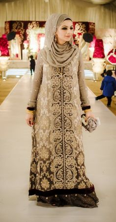 "Outfit by:Aisha Khurram ""Perfect Hijabi Wedding Guest"""