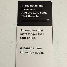 Submitted by // DM your best Cards Against Humanity moments! Cards Vs Humanity, Funniest Cards Against Humanity, Funny Jokes, Hilarious, Funny Pins, Funny Stuff, Twisted Humor, Funny Cards, Tumblr Funny