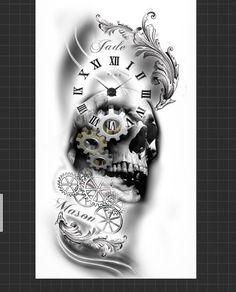 "12 curtidas, 1 comentários - Inkedillusion (@inkedillusion92) no Instagram: ""Half sleeve design done for a client #instaartist #skulltattoo #designer #inspiration #tattoodesign…"""