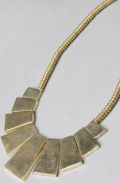 *Accessories Boutique The Stone Stack Necklace in Gold : Karmaloop.com - Global Concrete Culture