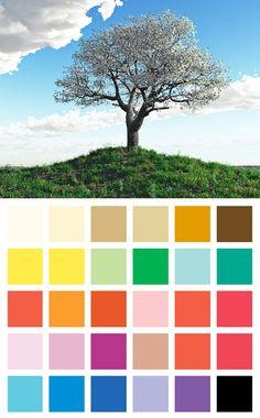 Mademoiselle Grenade - Les couleurs : la méthode saisonnière. Printemps