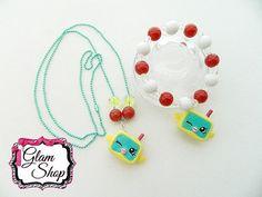 Shopkins Necklace & Bracelet Season 5 Birthday by GlamShopBeads