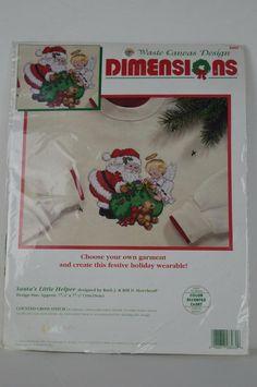 #Dimensions #8482 #Santa's #Little #Helper #Cross #Stitch  #Dimensions#Christmas