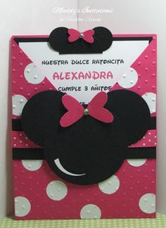 Minnie Mouse Pocket Invitations by elonacreations on Etsy 8750
