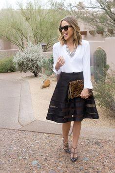 b&w. cynthia rowley skirt.