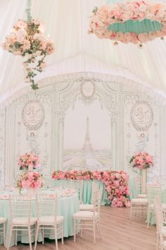 Pastel Wedding Reception