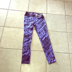 Purple Nike leggings ❤️ Size child medium but fit like an adult S/XS great condition Nike Pants Leggings