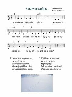 Kids Songs, Sheet Music, Kindergarten, Preschool, Winter, Ideas, Book, Winter Time, Preschools