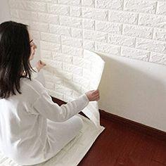 3D de ladrillos papel pintado, YIBANBAN 3d estéreo de papel pintado adhesivo de pared papel para pared extraíble autoadhesiva Papel pintado para dormitorio sala de estar moderna Antecedentes TV Decor