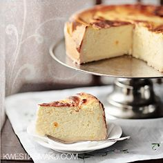 Sernik szafranowy - Przepis Hungarian Cake, Cheesecakes, Vanilla Cake, Muffins, Sweet Treats, Sweets, Dinner, Cooking, Polish