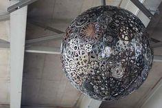 9posts - 9 impresionantes lámparas hechas con objetos de uso diario