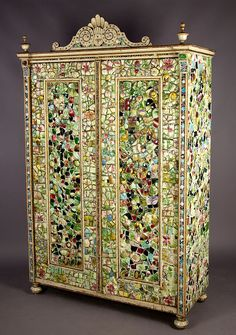fantastic antique mosaic tiles armoire
