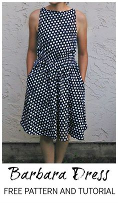 Barbara Dress Pattern Free. Could easily change the back to something interesting.