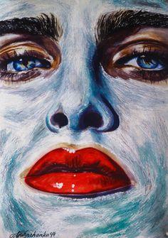 portrait | watercolor | art | drawing || @natali_maine