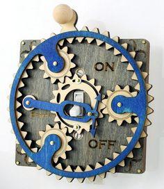 Steampunk style switch plates