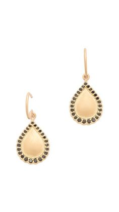 Jamie Wolf Black Diamond Teardrop Earrings - just a little touch of edge in a classic teardrop earring. These transition from day to night and will help compliment any ensemble.