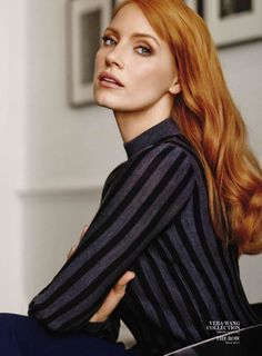 Taches de rousseurs Jessica Chastain by Giampaolo Sgura for InStyle US January 2015