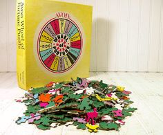 Vintage Round Wheel of Fortune Puzzle  Made by DivineOrders, $14.00
