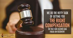 We do the hefty task of getting you the right compensation so that our clients can focus on recovery. http://www.currieliabolaw.com/practice-areas/personal-injury-and-workers-compensation/