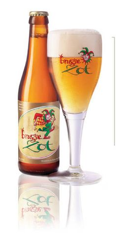 "Chicago Green Door Tavern. Yum.  Brugse Zot Ale - Brewery De Halve Maan, Brugge, Belgium : A ""cloudy orange, 6% ABV"" Belgian Pale ale"