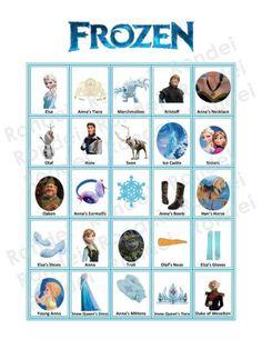GAMES Play Frozen Bingo... Use mini-marshmallows as markers? :)
