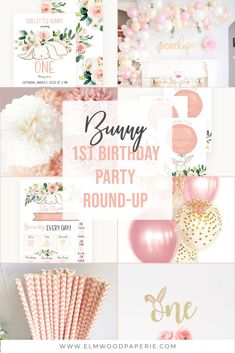 Here are bunny birthday party invitations, signs, favor tags and more to pull together a cute party. This list makes it easy to plan! Baby Girl Birthday Theme, 1 Year Old Birthday Party, Girl Birthday Decorations, First Birthday Party Themes, Bunny Birthday, Birthday Party Invitations, Birthday Ideas, Bunny Party, First Birthdays