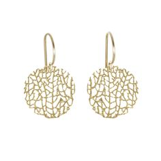{Coral Reef Earrings Vermeil} Catherine Weitzman - delicate pieces; love that they were cast from real coral pieces!