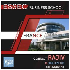 Will you soon graduate or have you graduated with at least a 3-year degree in any field? You can apply for MSC in management in a renowned university, ESSEC in France. Contact Rajiv at +91-9891426135 for applying. #WhiteGlow #Consulting #MSC #Admission #Management #University #ESSEC