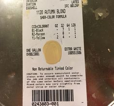 IMG_2337---This is an old color, but most Sherwin William stores will make it for you. Here's are the exact numbers for Autumn Blonde
