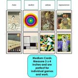 Our Art Sorting Game has stunning images with bright vivid colors depicting paintings from impressionism, Asian, cubism and modern art. You and your students will enjoy learning with these cards!