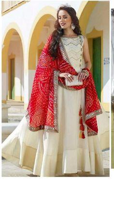 Beautiful Handwork Bollywood Designer Rayon Stylish Fhrok | Etsy