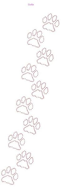 Dog Paw Prints Template