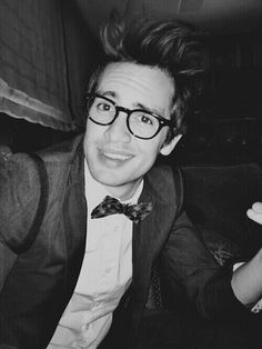 Brendon Urie. This picture looks amazing in black and white