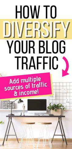 How to diversify your blog traffic to increase your page views. Learn the importance of having multiple traffic sources income streams for your blog. How to create new sources of blogging income additional ways to get blog traffic. Diversifying your traffic is imperative for blogging success. Don't rely solely on one source for your traffic income. Make money with your blog in many different ways. Tips to create multiple streams of income. #blog #blogtips #income #traffic #blogtraffic