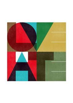 Lovehate print by Blanca Gomez