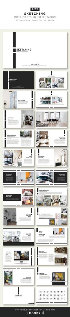 Sketching #Presentation Creative Template - Business #PowerPoint Templates Download here: https://graphicriver.net/item/sketching-presentation-creative-template/20291305?ref=alena994