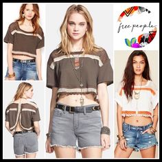 I just added this listing on Poshmark: FREE PEOPLE ENVELOPE BACK CROP KNIT TEE TOP A2C. #shopmycloset #poshmark #fashion #shopping #style #forsale #Free People #Tops Lace Tee, Fashion Tips, Fashion Design, Fashion Trends, Free People Tops, Open Weave, Crop Tops, Top Free, Outfits