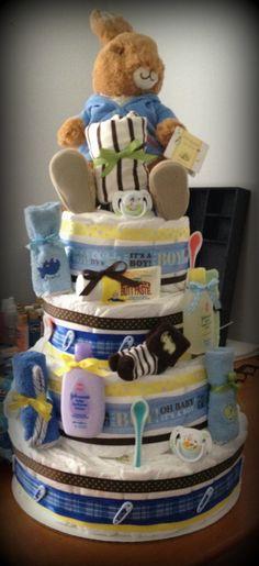 Baby Shower Diaper Cake- Peter Rabbit.