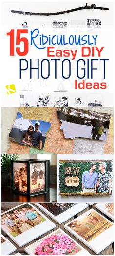 15 Ridiculously Easy DIY Photo Gift Ideas - The Krazy Coupon Lady
