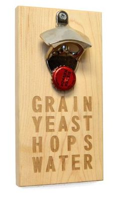 Wall Bottle Opener | Give your bar or kitchen an upgrade with a wall mounted bottle opener | beer ingredients cool bottle opener