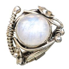Ana Silver Co Rainbow Moonstone Flower 925 Sterling Silver Ring Size 6.25 RING823630
