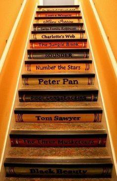 Book spine stairs