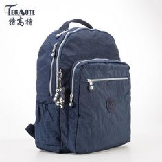 TEGAOTE Backpacks for Teenage Girls Mochila Feminina School Backpack Women  Solid Famous Nylon Casual Laptop Bagpack Female 2017-in Backpacks from  Luggage ... 2612c76a99e78