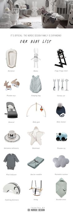 NordicDesign's baby list - Must-haves from our favourite (mostly) Scandinavian brands