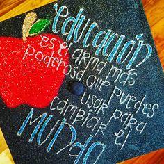 Graduation cap for future Spanish teachers! #graduation #education #spanish
