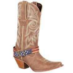 The Fourth of July is coming up and patriotic colors are coming out! The all-American style this summer is the perfect combination of fringe, denim, and sparkle. If you're in need of something to rock this holiday, check out these blazing styles… Cowgirl Outfits, Cowgirl Style, Cowgirl Boots, Western Boots, Cowgirl Fashion, Cowgirl Clothing, Gypsy Cowgirl, Durango Boots, How To Stretch Shoes