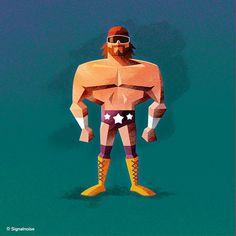 ilustraciones Randy 'Macho Man' Savage 1 Ilustraciones estrellas de la WWE